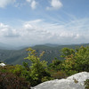 Looking out at Linville Gorge from lower down on those rock fins of Hawksbill Mtn.