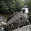 First glimpses of Upper Creek Falls