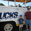 Grant and Dad waiting for the DUCK tour to start.