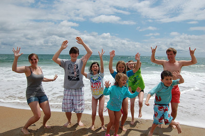 Vacation 2012 All the Kids Jumping and Group Shots