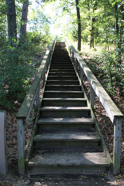 These are the steps that go from the campground to the beach at the State Park