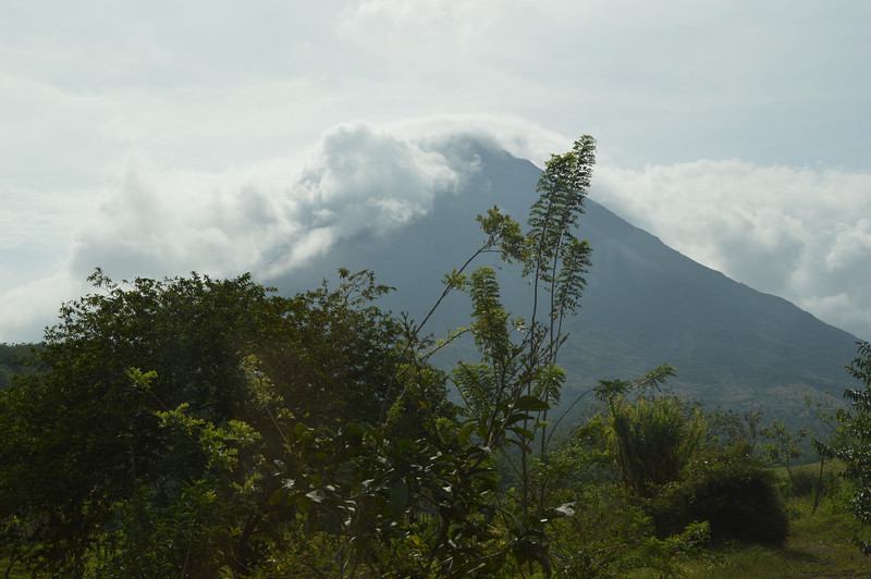 About the best view we got of the volcano while we were there.