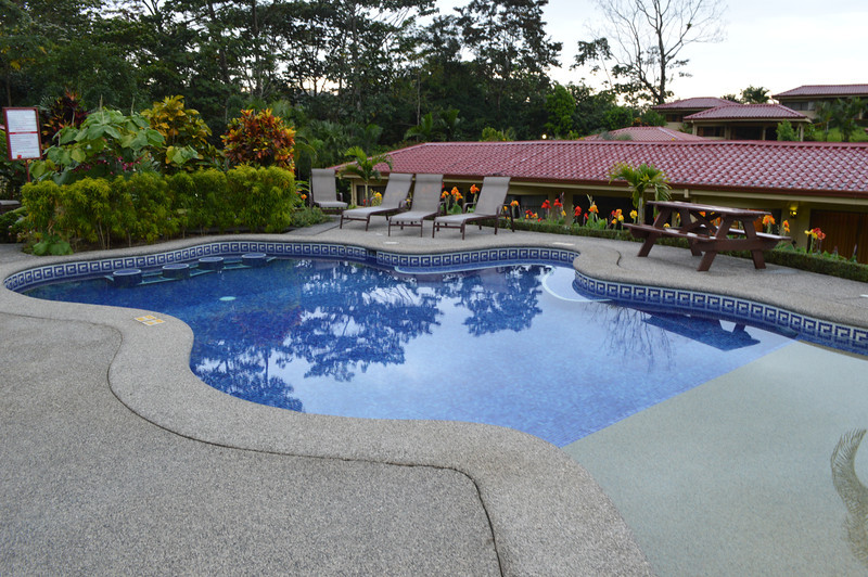 The pool at La Fortuna, near Arenal.