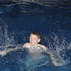 Grant was having a grand old time in the pool!