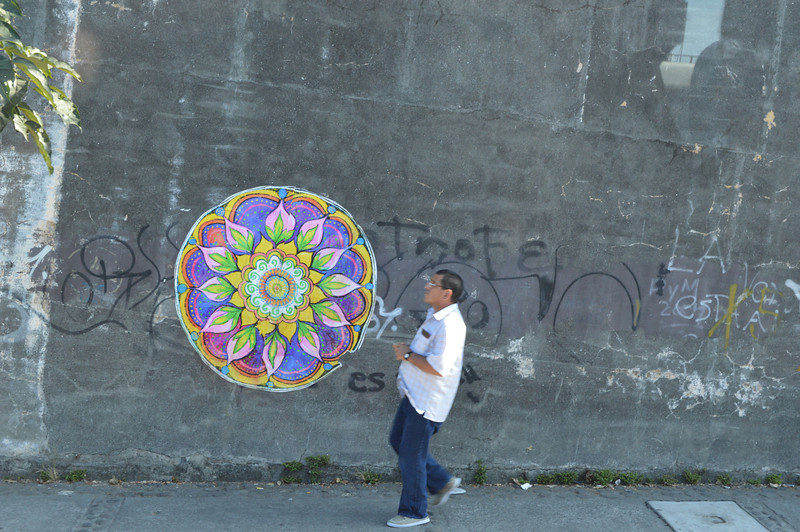 Cool Mandala on a wall in San Jose, Costa Rica.