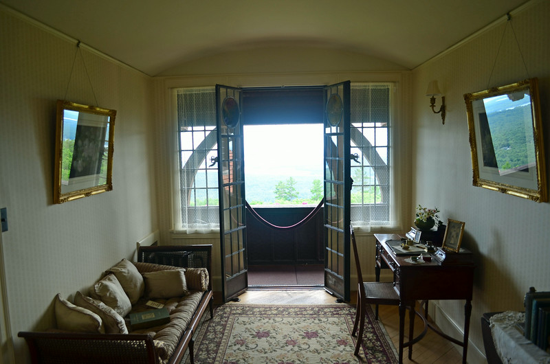 Hall-room going to balcony facing Lake Winnipesaukee