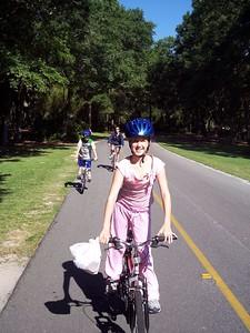 Cassandra #1 bike rider always in the lead.............