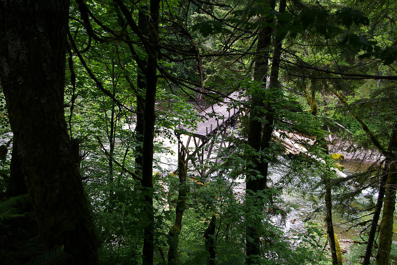 Bridge Half Across Lewis River