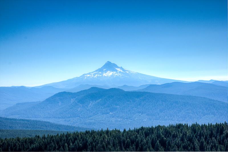 Mt Hood, 11,235 ft, 22 miles
