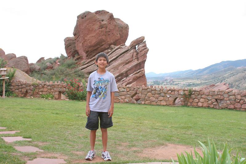 Mark near Red Rocks amphitheater.
