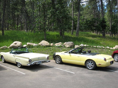 Marie spotted this older TBird in Custer, SD