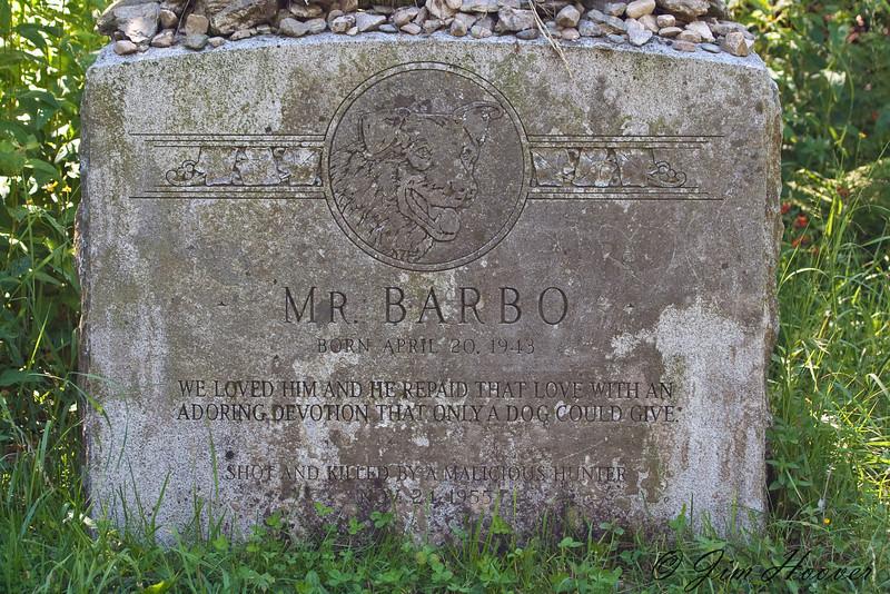 Grave stone atop Mt. Equinox, Vermont