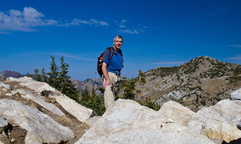 At the peak, Wasatch Mountains, Utah