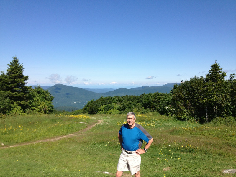 On the Appalachian Trail atop Bromley Mountain, Southern Vermont