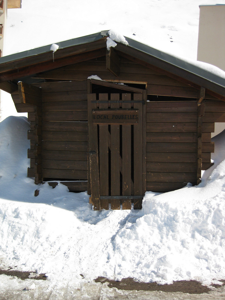 Shed being pushed over by snow