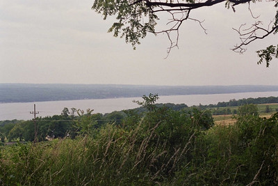 Seneca Lake from the vineyard above the cemetary