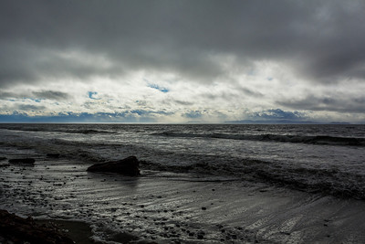 China Beach with the Olympic Peninsula in the distance across the Strait of Juan de Fuca.