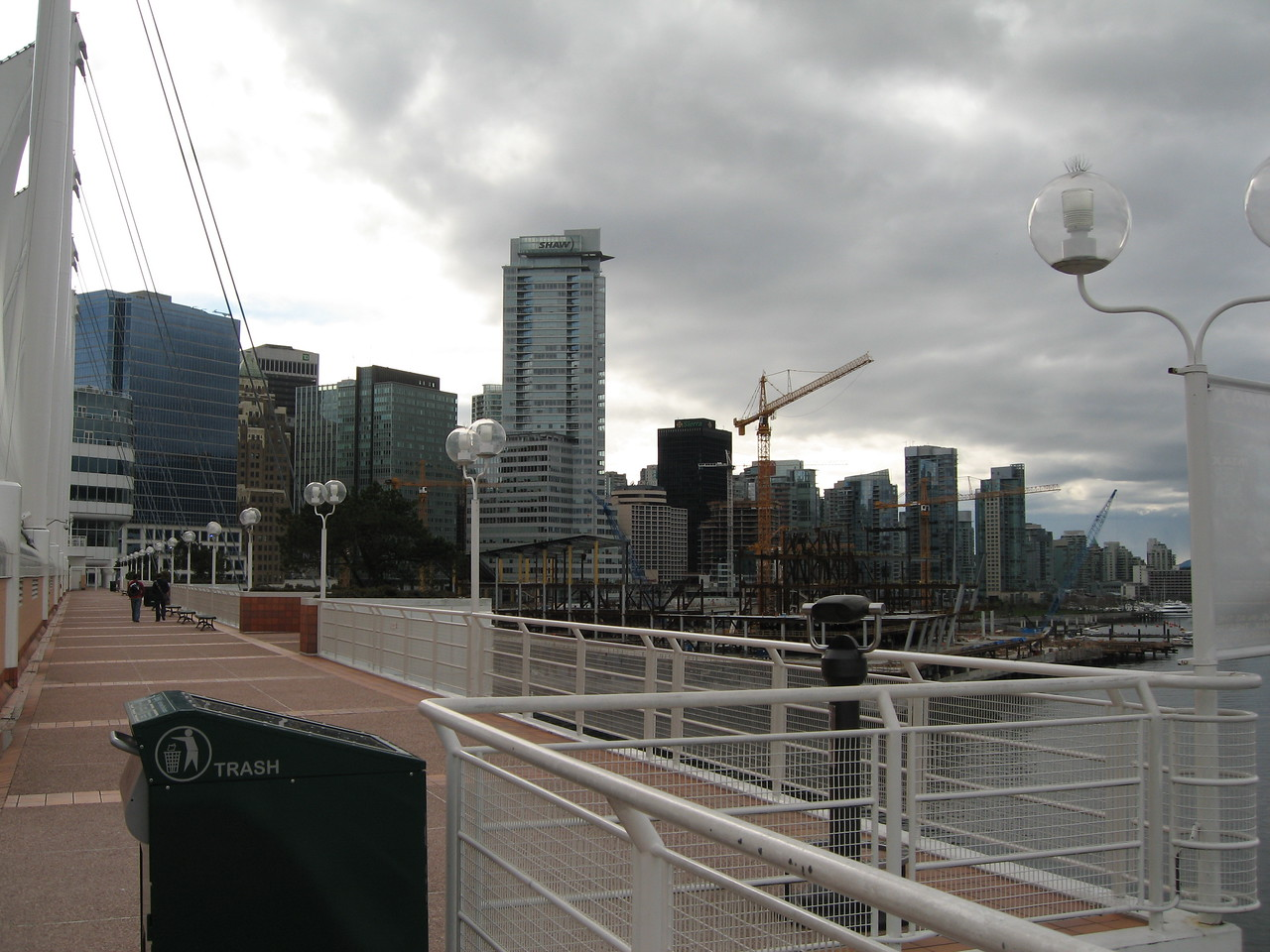 View of downtown Vancouver taken from Canada Place
