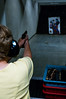 Shooting guns at The Gun Store. If I recall correctly I shot a Thompson submachine gun, a semiauto AK-47 with a foregrip and red dot sight, and an M249 SAW with a holo sight and bipod. Matt fired the SAW, an M14, an M9 pistol, and the AK-47. Wendy fired an M4, the SAW, and the M9. Mom fired the M4 and the M9.