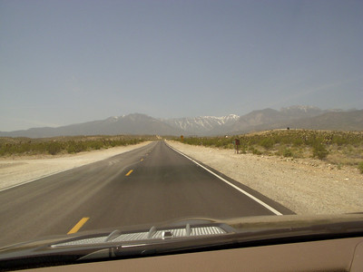 The road out to Mount Charleston, 45 miles from Vegas