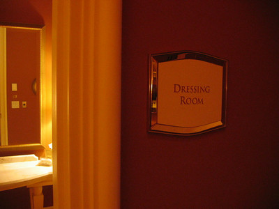 Private Dressing Rooms for the Bride and Groom