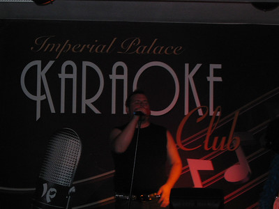 Joey and His Fauxhawk  Singing Karaoke at the Imperial Palace.