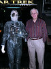 "My dad with a member of the Borg outside Star Trek: The Experience.  There was no danger, as the Borg assured me ""assimilation is not permitted here."""