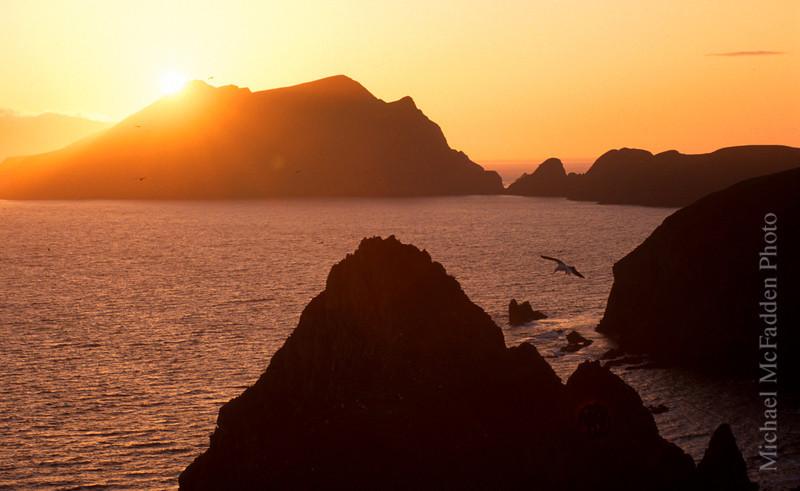sunset anacapa