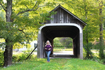 Diana at McWilliam Covered Bridge in Grafton