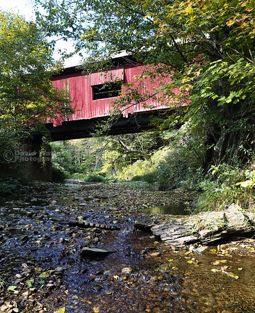 Lower Cox Brook Covered Bridge in Northfield Falls