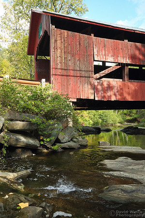 Upper Cox Brook Covered Bridge in Northfield Falls