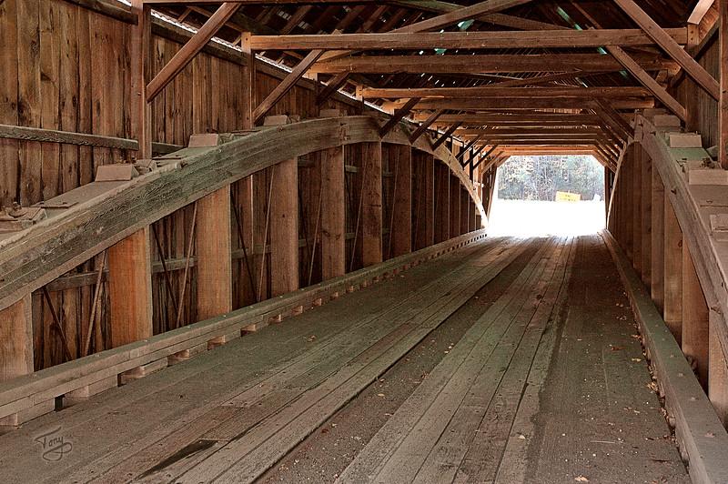 Woodstock VT - On the Lincoln Bridge
