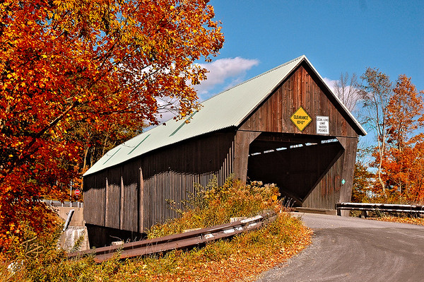 Woodstock VT - Lincoln Bridge - 1 -