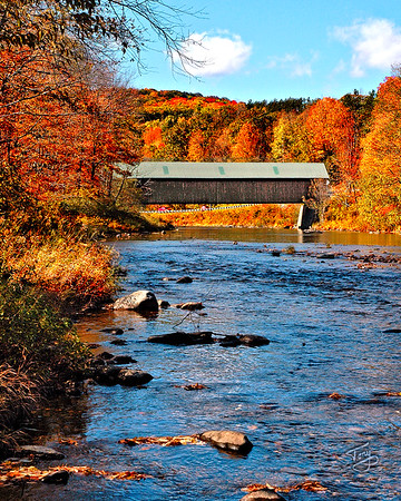 Woodstock VT - Lincoln Bridge - 2 -