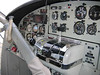 """Cockpit of the DeHavilland turbo Otter that we flew home in (Victoria to Seattle). I got to sit """"up front"""" with the pilot. What a blast."""