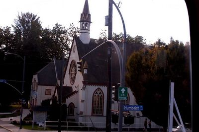 DISTANT PICTURE  OF AN EPISCOPAL  CHURCH