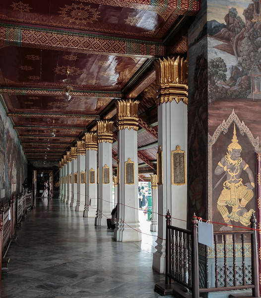 One of the buildings by the Emerald Buddha Temple