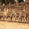 Wall of elephant carvings