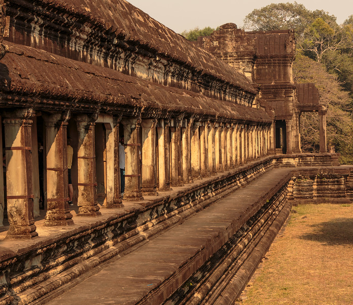 The Angkor Wat Temple is in excellent condition