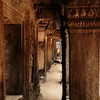 Beautiful archways and columns of the ancient temples