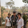 Anne, Bob and Lorraine by the bridge to Angkor Thom