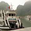 Our boat docked in Halong Bay where the tunnels are located