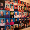 At the entrance to the museum this display shows a 100 photos of women that made a contribution to Vietnam's history