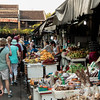 The local market is always full of fruit, vegetables and gifts