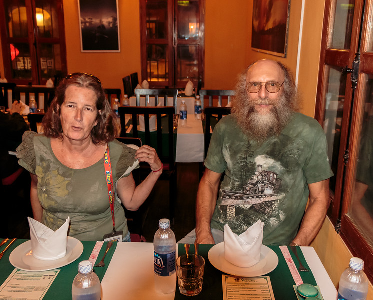 Dinner at the Green Chili with Wilma and Steve in Hoi An