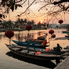Sunset on the Thu Bon River in Hoi An