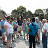 Duc informing our Gate 1 Family of the sights to be seen within the  Imperial Palace