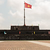 The Citadel flying the Vietnam national flay