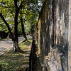 One of the outside walls surrounding the Imperial Palace