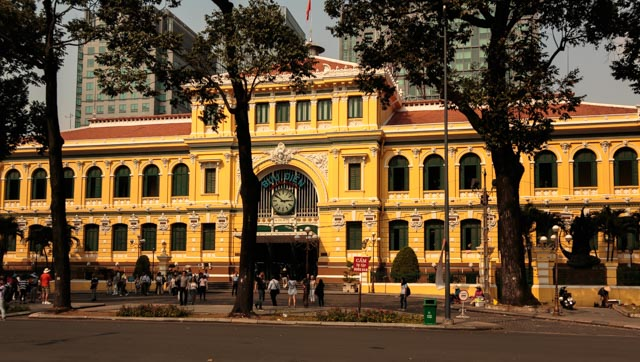 The French styled Central Post Office in Saigon